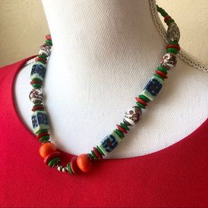 Ceramic Beaded Mexican Pottery Necklace